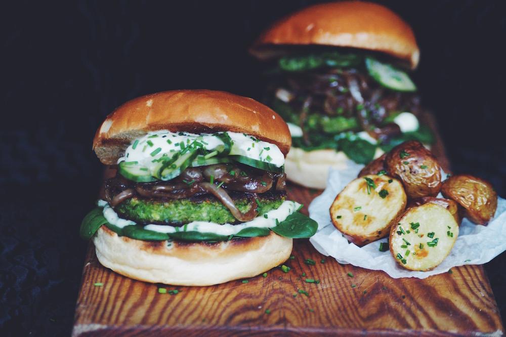 vegetarisk hambugare