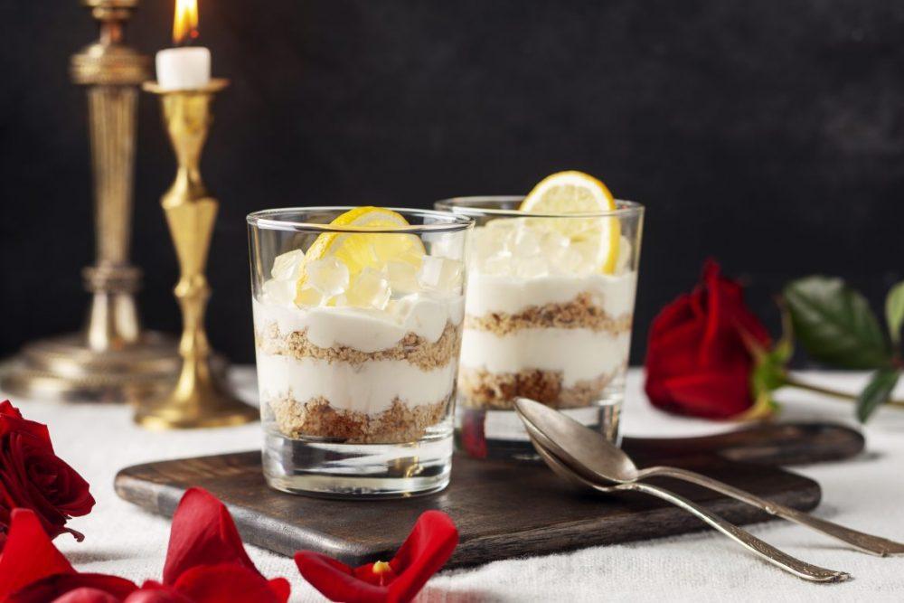 Cheesecake i glas med GT-gelé